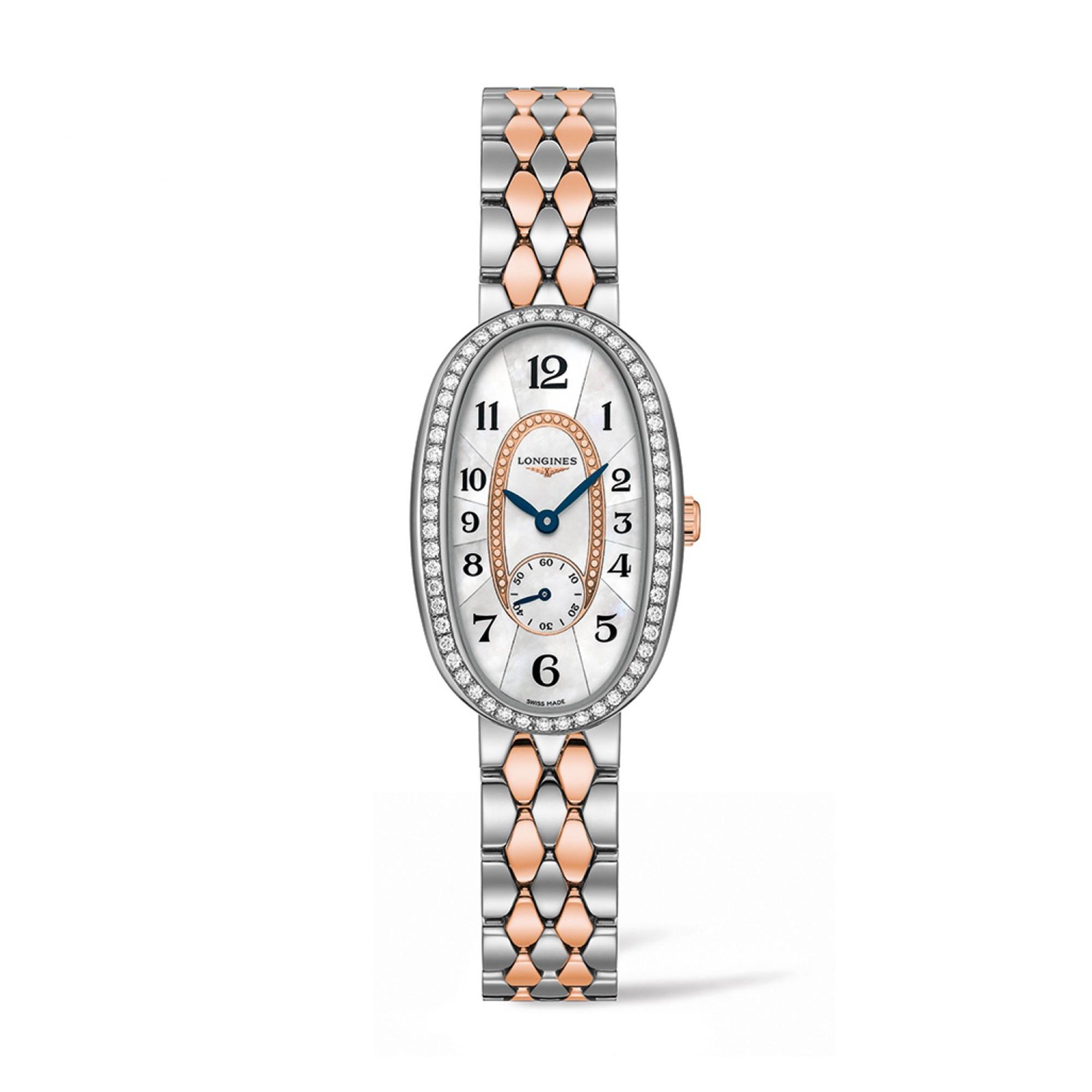 e9c264294 Longines Symphonette Mother Of Pearl Dial Diamond Bezel Ladies Watch